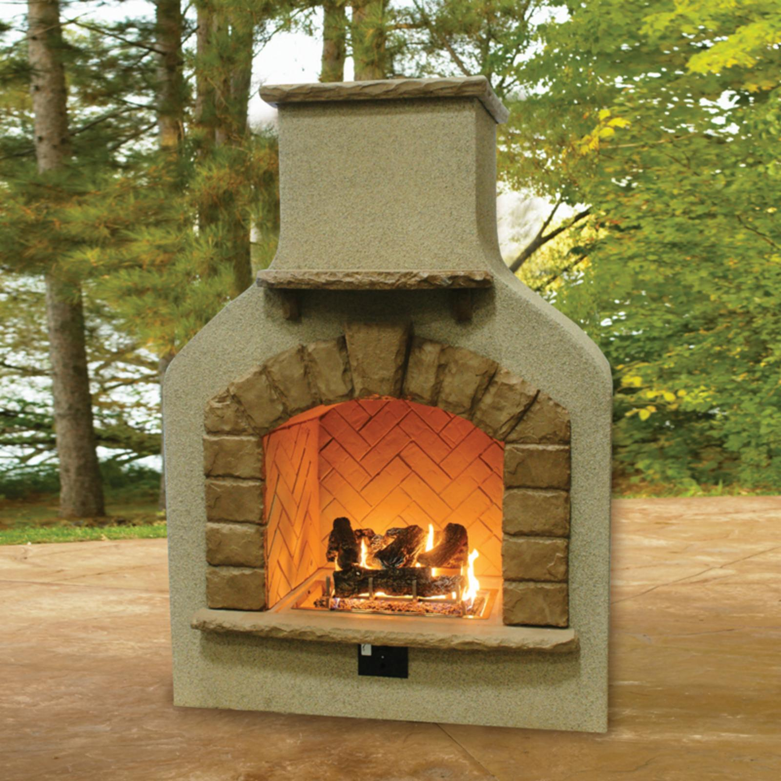 Outdoor GreatRoom Sonoma Gas Fireplace Surround with Opti...