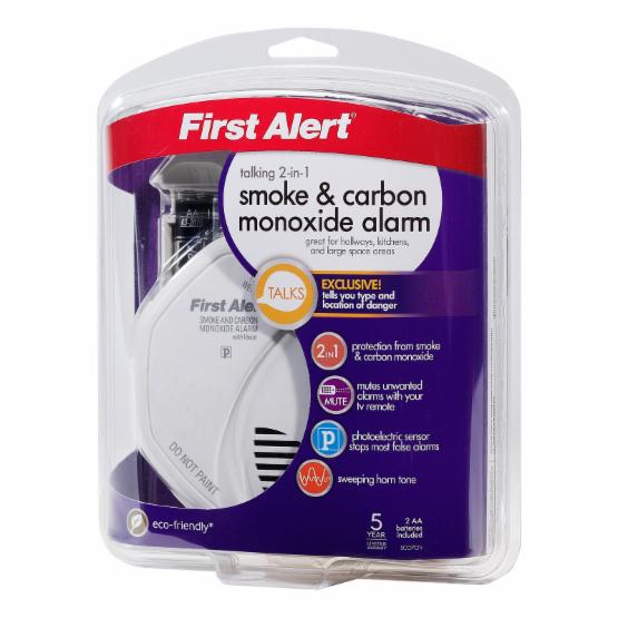 First Alert SCO7CN Battery Operated Carbon Monoxide and Smoke Alarm