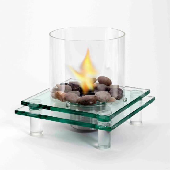 EcoFlame 2 Layer Architectural Glass Fireplace