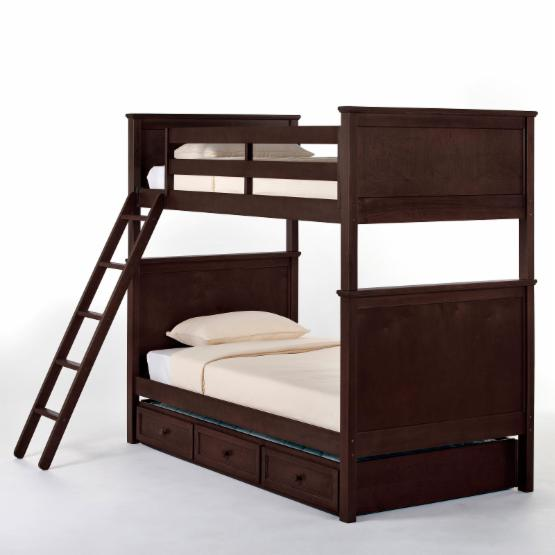NE Kids Schoolhouse Casey Twin over Twin Bunk Bed - Chocolate