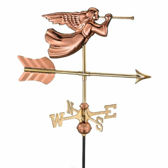 Good Directions Angel Garden Weathervane - Polished