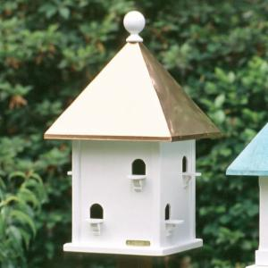 Lazy Hill Farms Polished Copper Roof Square Bird House