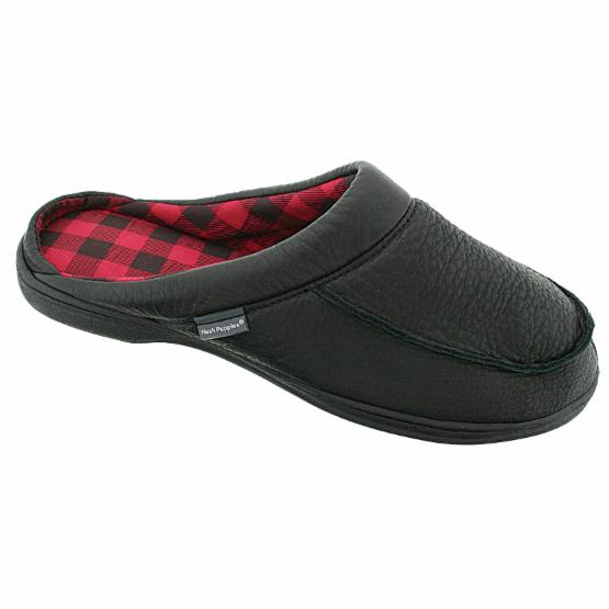 Hush Puppies Mens Clyde Scuff Slippers in Black