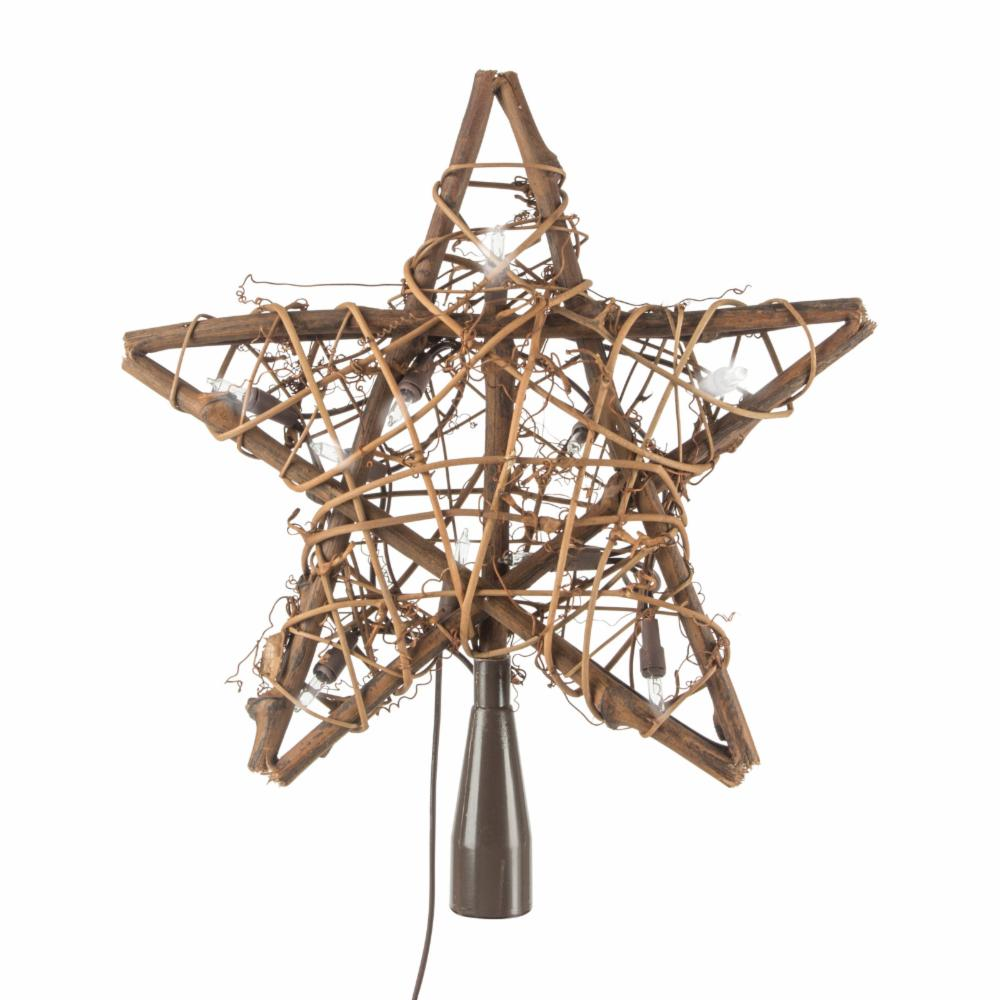 Gerson Company 9.5 in. Willow Star Tree Topper