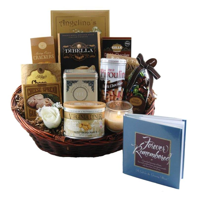 Forever Remembered Sympathy Gift Basket - FOREVE-SMALL