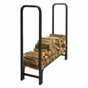 Pleasant Hearth LS938 Outdoor Steel Log Rack with Optional Cover - Black