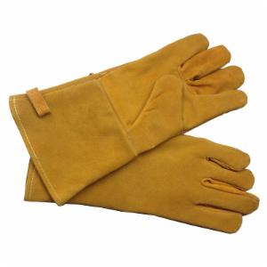 Pleasant Hearth Brown Leather Fireplace Gloves
