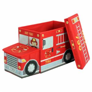 Greenway Childrens Fire Truck Ottoman Storage Compartment