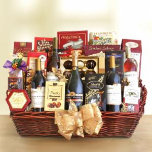 Grand Impressions Gourmet Wine Party Gift Basket