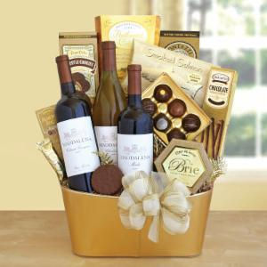 Glimmering Wine & Gourmet Spectacular Gift Basket
