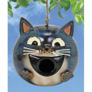 Coynes Grey Cat Birdhouse