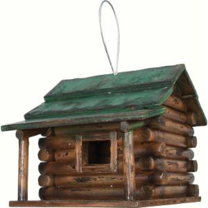 Rivers Edge Wood Log Cabin Birdhouse