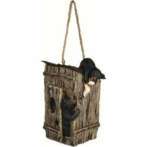 Rivers Edge Bears Outhouse Birdhouse