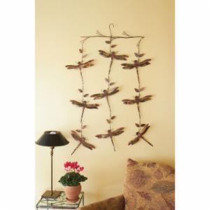 Ancient Graffiti Dragonfly Triple Strand Hanging Chime