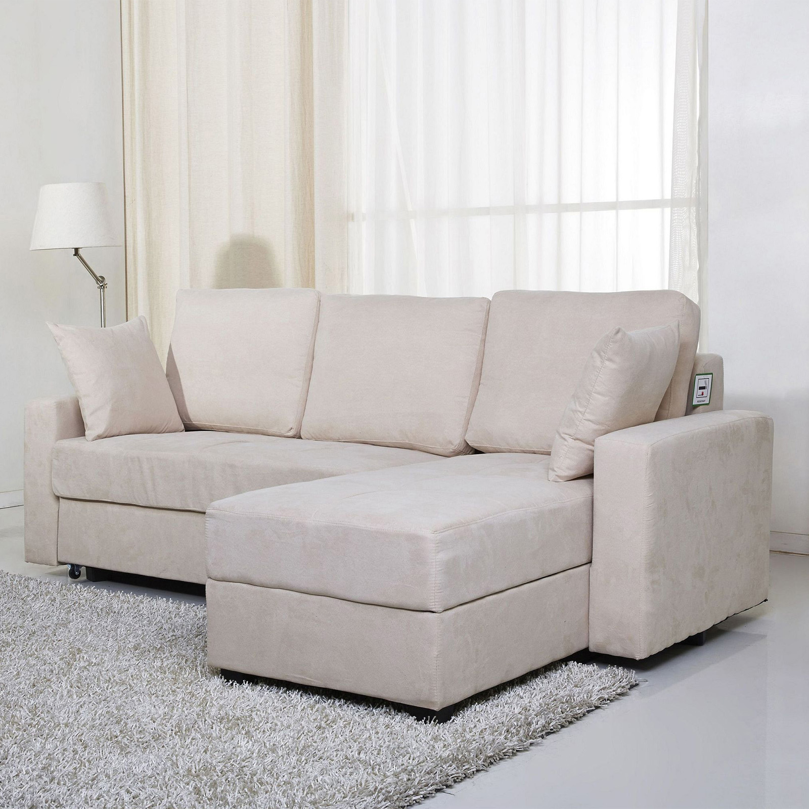 Milton Greens Stars Darwin Sectional Sofa with Storage and Pull