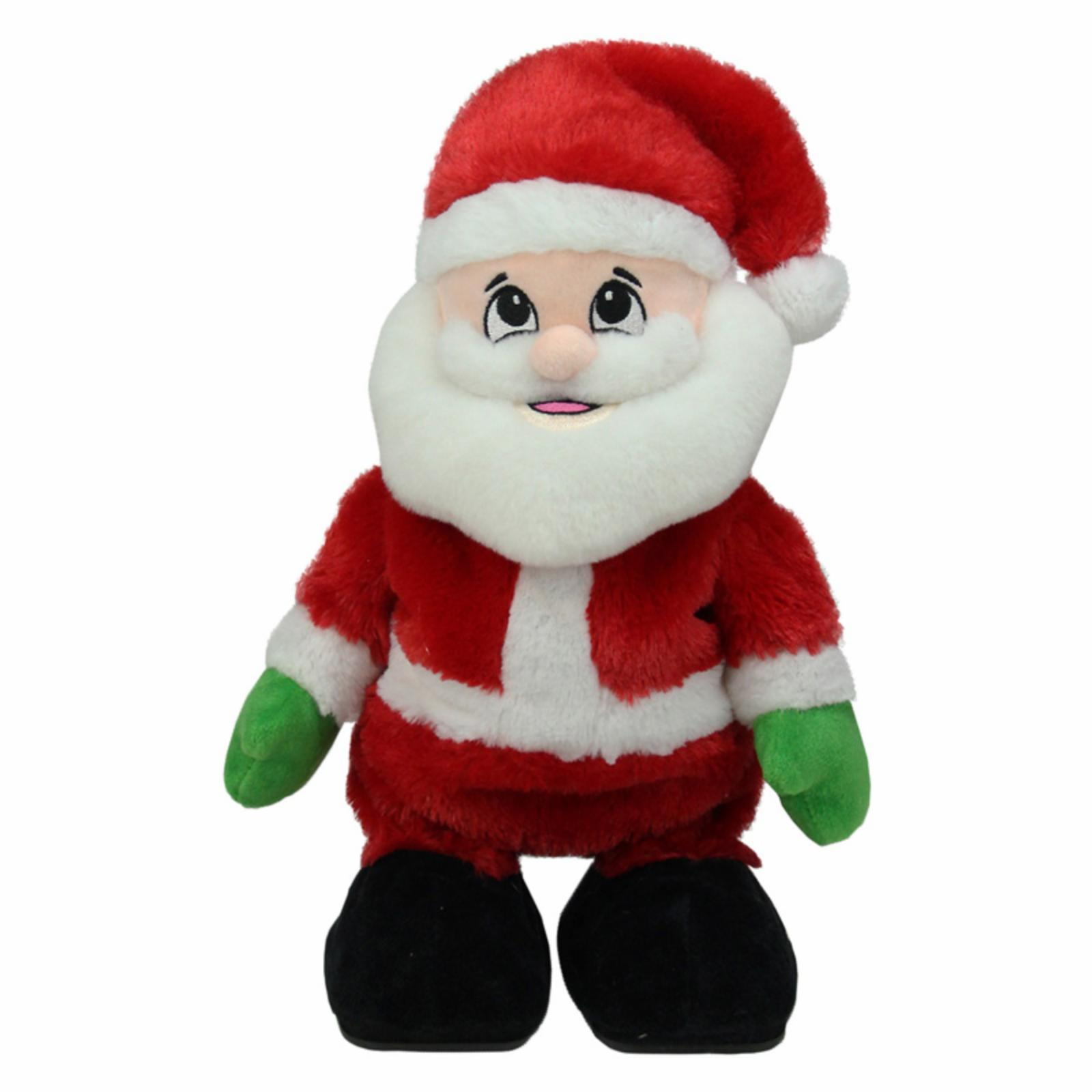 Northlight 12 in. Animated Tickle n Laugh Santa Claus Plu...