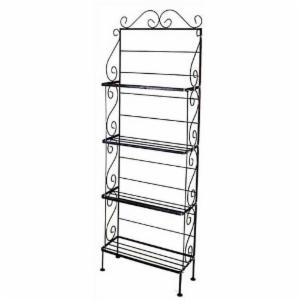 4 Shelf Small Scrolls Bakers Rack