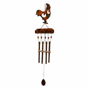 Great World Rooster Tie Dye Copper Wind Chime