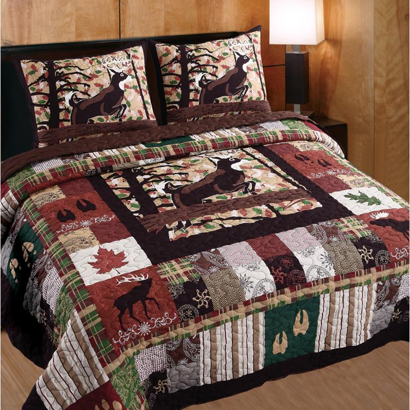 Greenland Trading Whitetail Lodge Quilt Set - GL-1408DMSQ