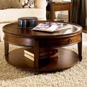 Hammary Sunset Valley Round Cocktail Table - Rich Mahogany