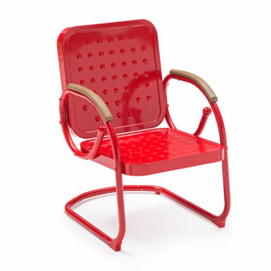 Coral Coast Rockwell Retro Steel Bistro Spring Chair