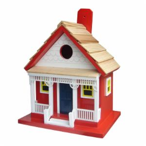 Home Bazaar Capitola Cottage Red Bird House