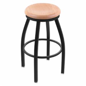 Holland Bar Stool Misha 36 in. Extra Tall Swivel Bar Stool with Wood Seat