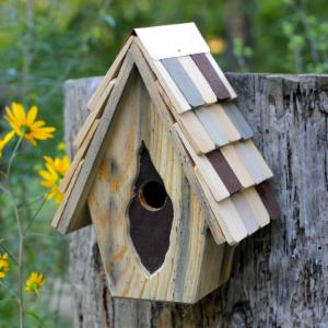 Heartwood Vintage Wren Bird House - Antique Cypress