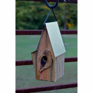 Heartwood Vintage Shed Bird House - Antique Cypress