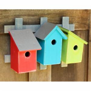 Heartwood Trellis Trio Bird House Set