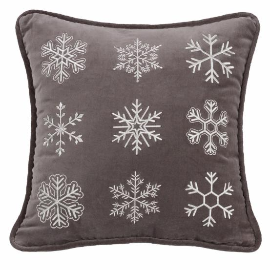 HiEnd Accents Whistler Snowflake Pillow