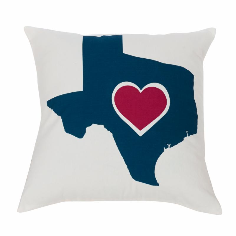 HiEnd Accents Texas Heart Throw Pillow - PL3125