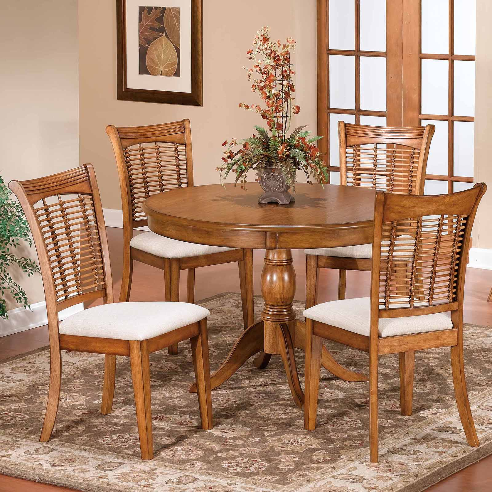 Round Pedestal Dining Table Dark Cherry