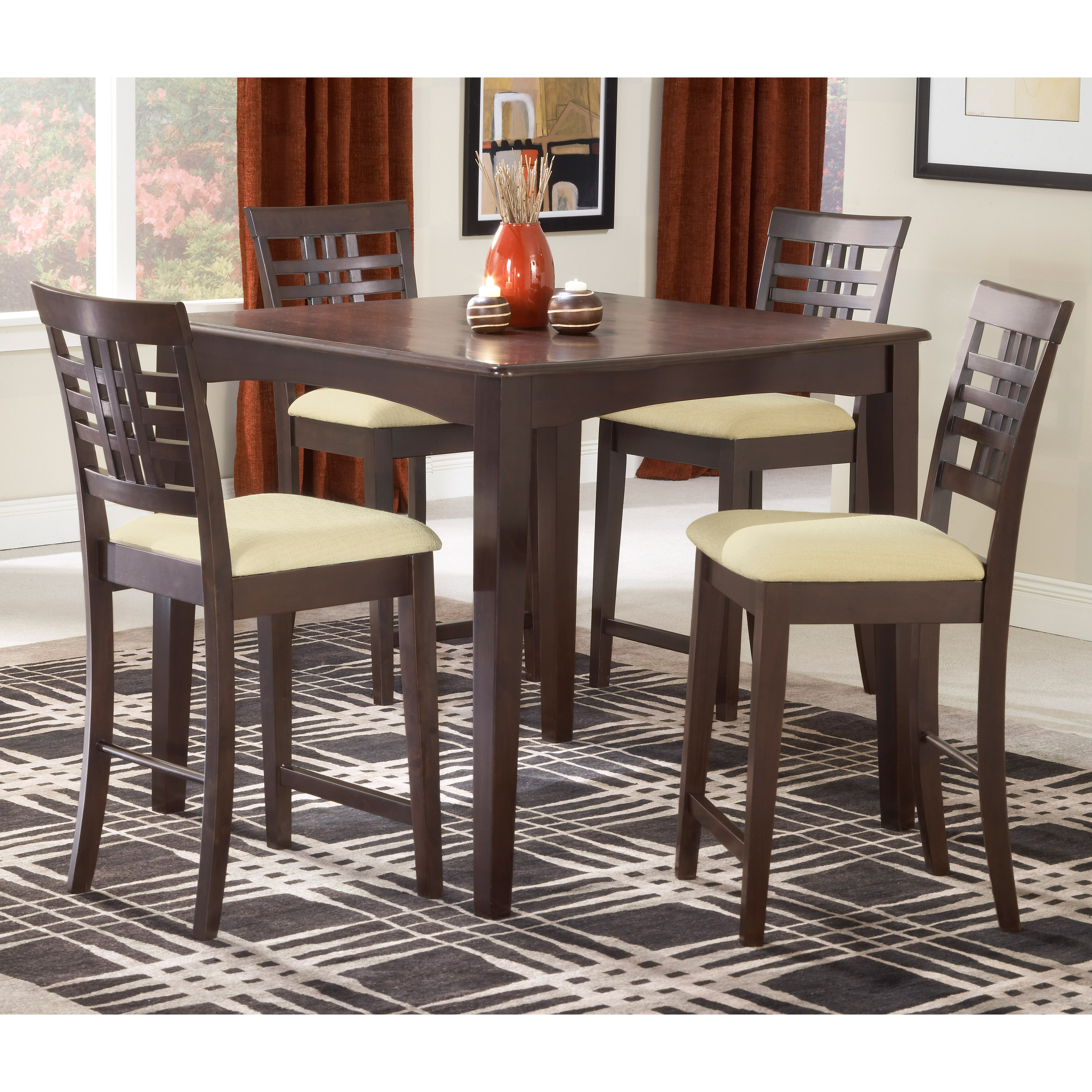 Powell Brigham 5 Piece Counter Height Dining Table Set