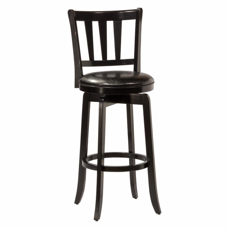 Hillsdale Presque Isle 26 in. Swivel Counter Stool - Blac...