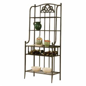 Hillsdale Marsala Bakers Rack - Gray with Brown Rub