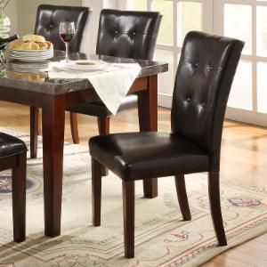 Homelegance Decatur Side Chairs - Rich Cherry - Set of 2