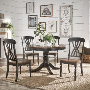 round dining room tables. Weston Home Two Tone 5 Piece Round Dining Set Room Tables