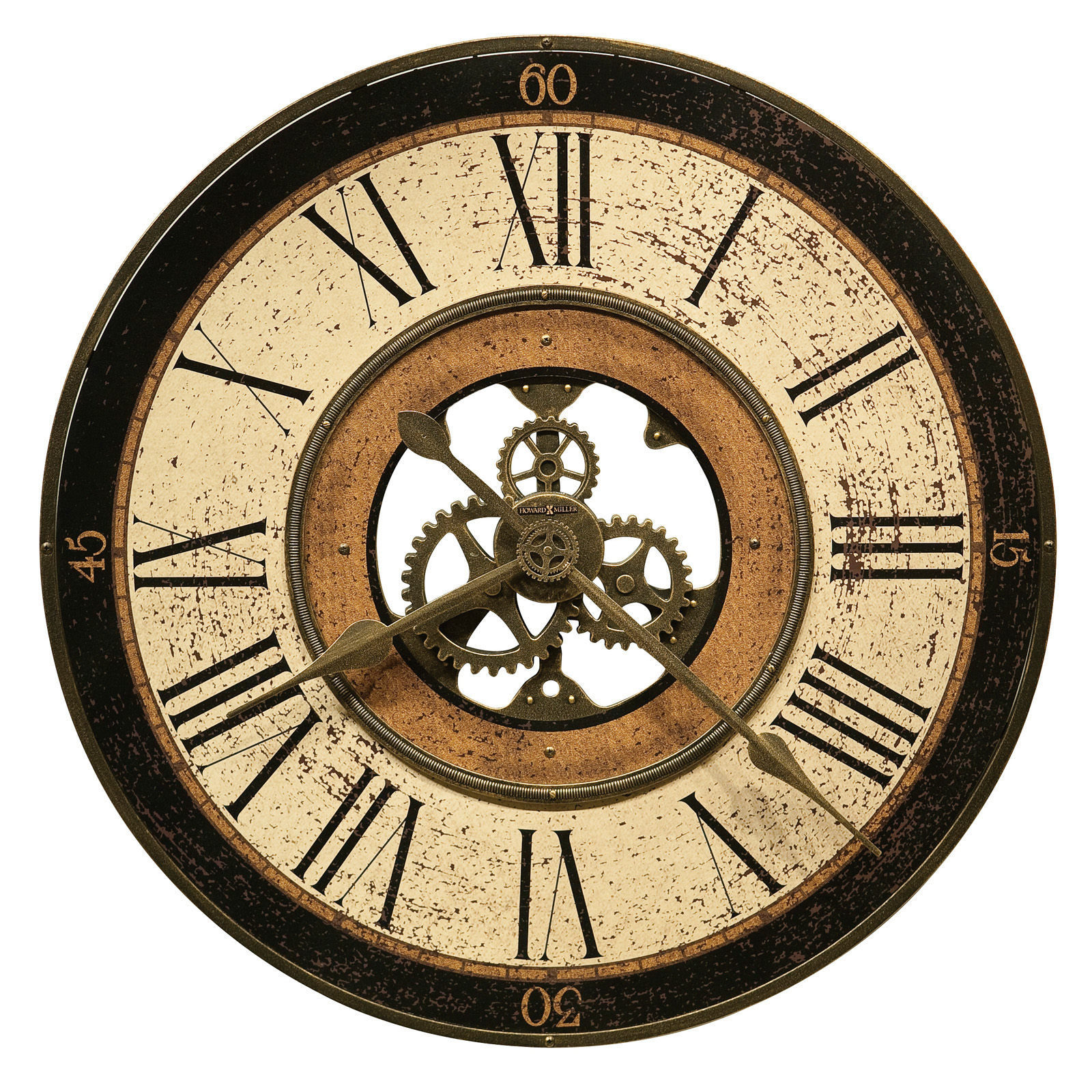 Oversized wall clocks hayneedle howard miller brass work 32 in wall clock amipublicfo Image collections