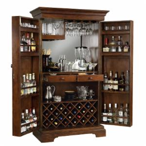 Howard Miller Sonoma Hide-A-Bar Wine and Home Bar Cabinet