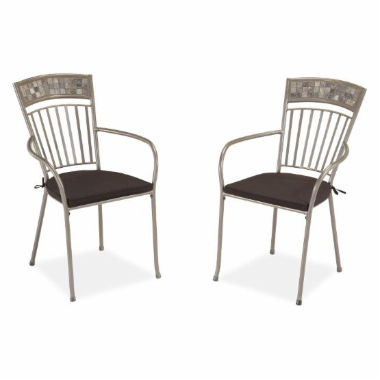 Home Styles Glen Rock Marble Dining Chair with Cushion - Set of 2