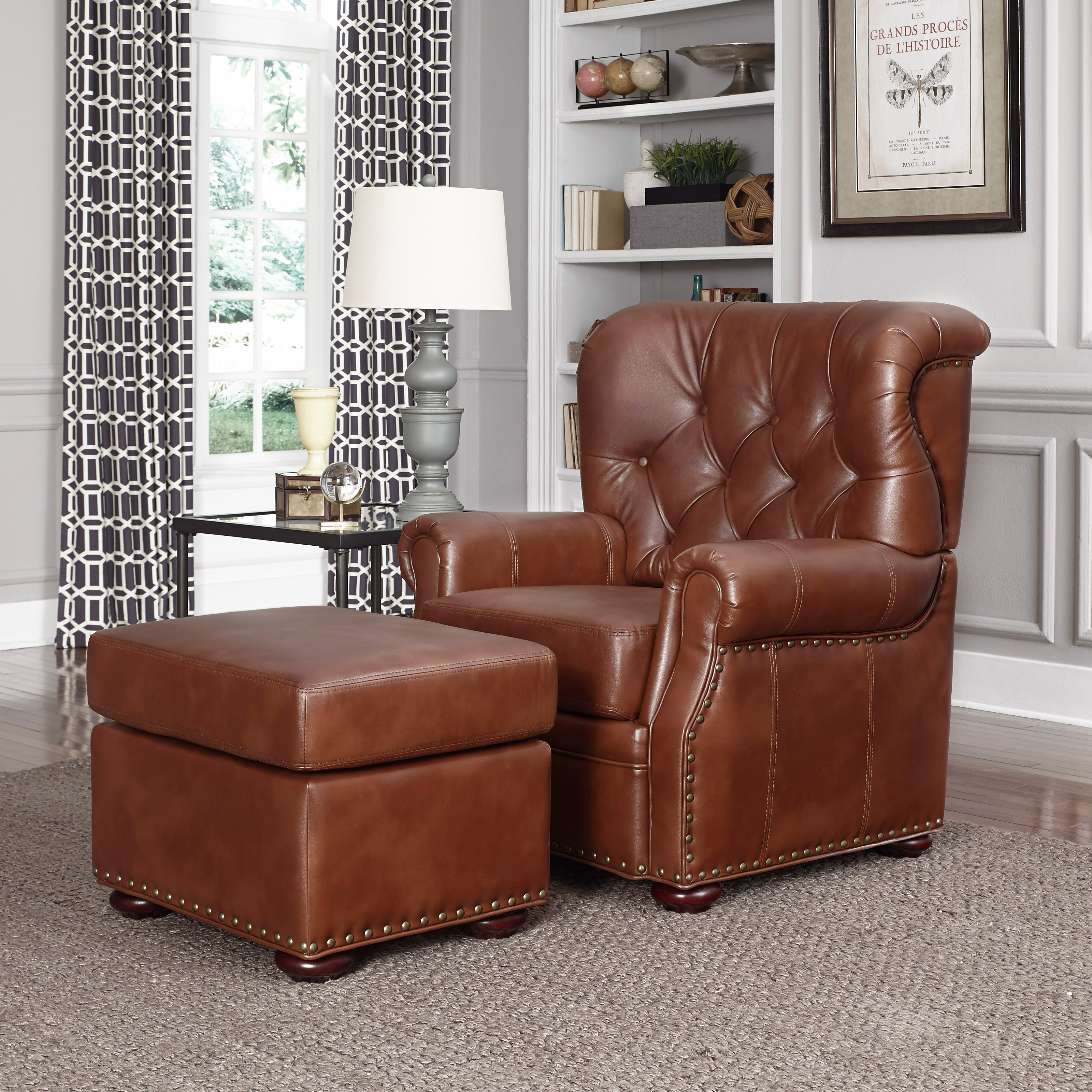 Home Styles Miles Stationary Club Chair with Optional Ottoman