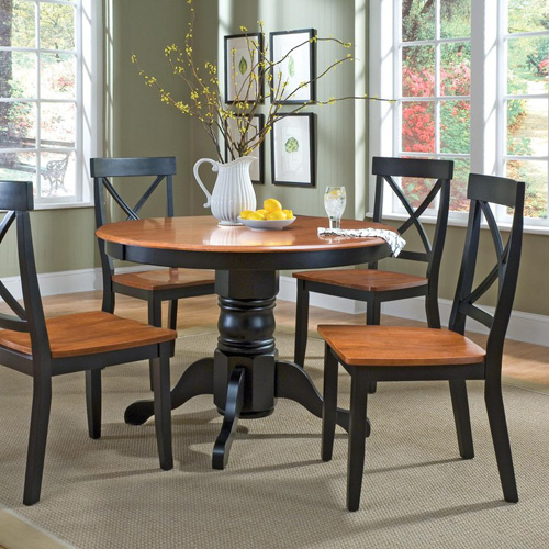 Home Styles 5 piece Black \u0026 Cottage Oak Dining Set & Home Styles Kitchen \u0026 Dining Table Sets | Hayneedle