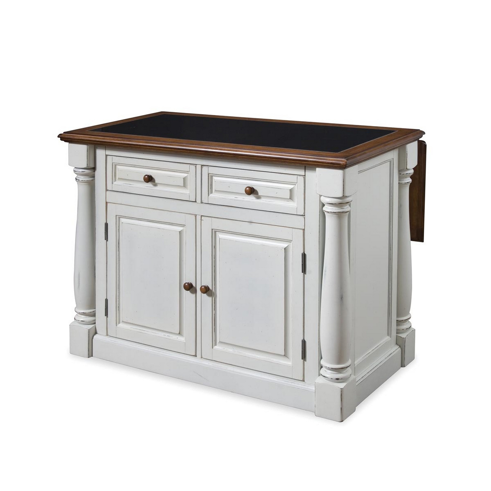 Home Styles Monarch Slide Out Leg Kitchen Island With Granite Top |  Hayneedle