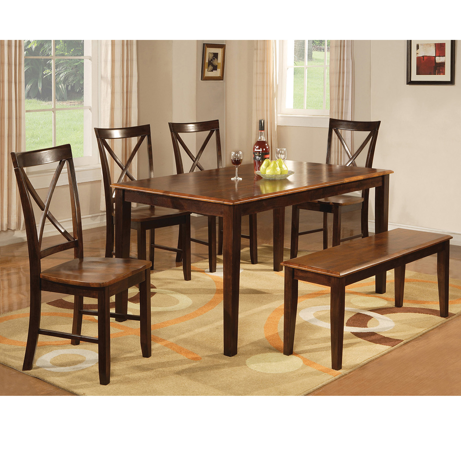 QUICK VIEW. Home Source Industries Perry 6 Piece Rectangular Dining Table  Set