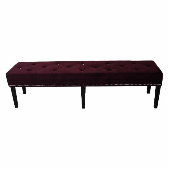 HD Couture 72 in. King Castalina Velvet Backless Bench