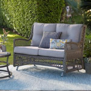 Belham Living Bristol Outdoor Glider Bench with Cushions