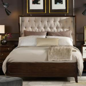 hooker bedroom furniture. Hooker Palisade Upholstered Wingback Bed  Taupe Fabric Furniture Beds Hayneedle