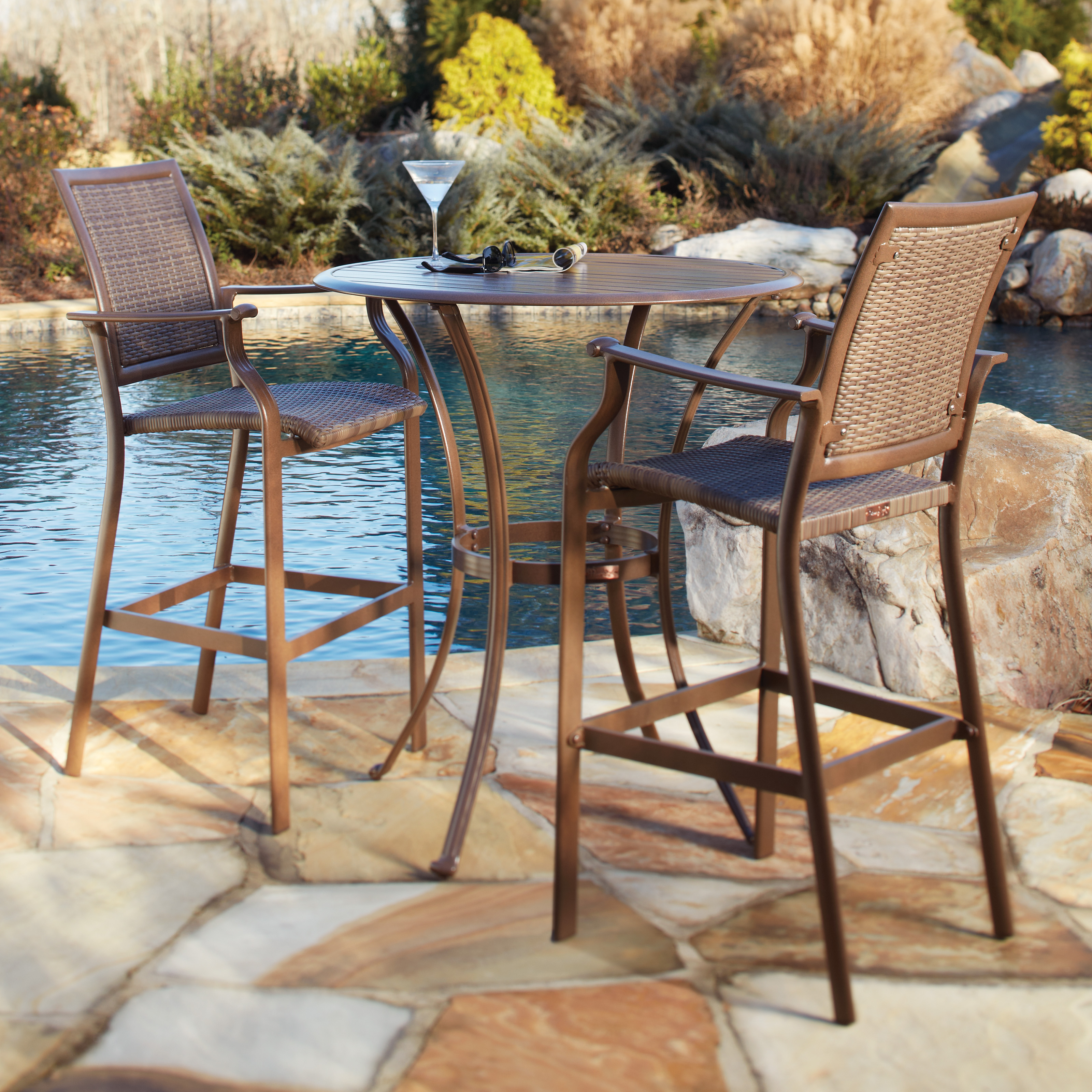 Coral Coast Wimberley 5 Piece Balcony Height Dining Set