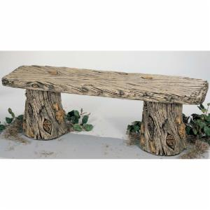 Henri Studio Woodland 54 in. Cast Stone Bench